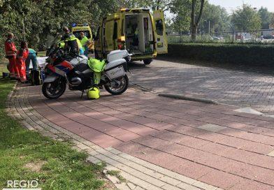 Slachtoffer naar ziekenhuis gebracht na val met scooter