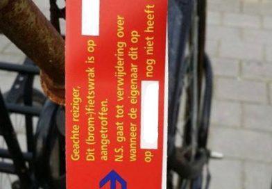 Opruimactie fietsen bij station