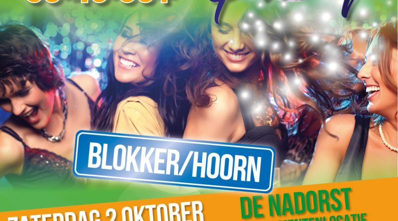 WIN TWEE KAARTEN VOOR 30+DANCINGPARTY IN DE NADORST IN BLOKKER